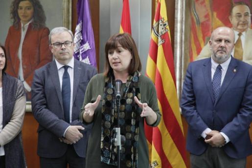 Francina Armengol en la segunda Conferencia de Presidentes de la legislatura, que se ha celebrado en la sede del Consell de Eivissa este jueves.
