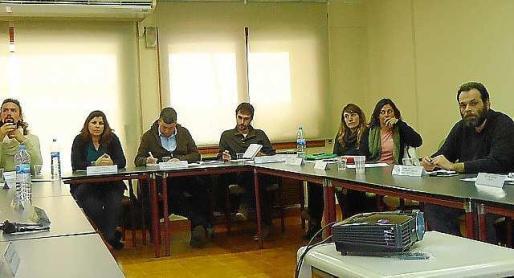 Los representantes de la Alianza por la gestión sostenible del agua.
