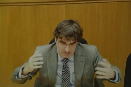 Luis Tejeiro durante su declaración este miércoles en la decimosexta jornada del juicio por el caso Nóos.