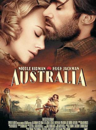 Cartel del film 'Australia'.