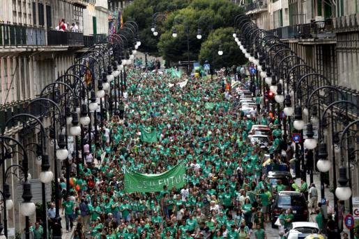 Imagen de archivo de la manifestación en Palma en contra del TIL.