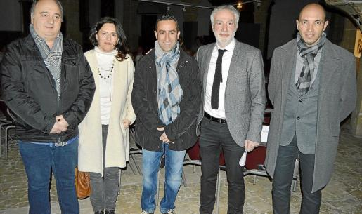 Andrés Nevado, Magdalena Seguí, Miquel Ángel Sureda, Miquel Àngel March y Tomeu Cifre.