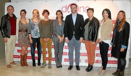Sergio Rodríguez, Esther Morales, Antònia Bauçà, Marga Fullana, Margarita Gómez Villegas, José Hila, Susanna Moll, Brigitte Yagüe y Marta Lliteras.
