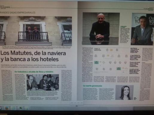 El prestigioso diario económico Expansión dedicó ayer un amplio reportaje sobre la saga de empresarios ibicencos.