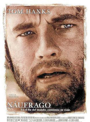 Cartel de la película 'Náufrago', de Tom Hanks.