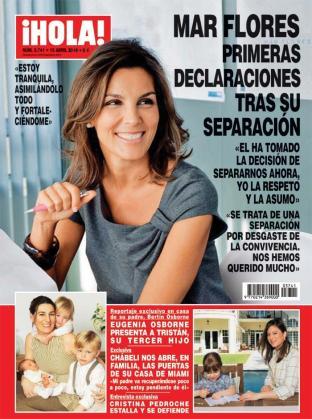 Portada de la revista 'Hola' con la entrevista en exclusiva de Mar Flores.
