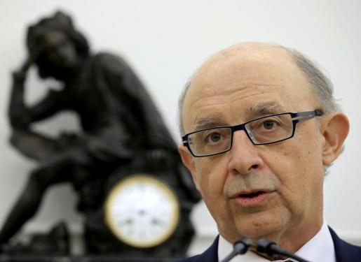 El ministro de Hacienda y Administraciones Públicas en funciones, Cristóbal Montoro, en una imagen tomada este miércoles.