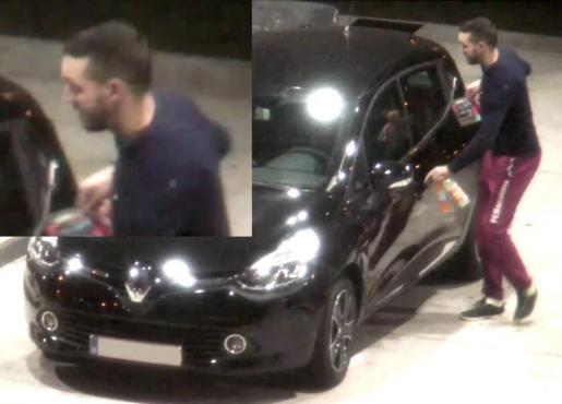 Imagen cedida por la Políca de Bélgica el 24 de noviembre del 2015 de Mohamed Abrini, de 31 años, en una gasolinera de Ressons, Francia, el 11 de noviembre del 2015.