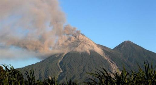 El volcán de Fuego en Guatemala.