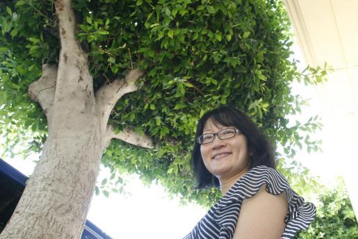 La pianista de Hong Kong Mary Wu, ayer en Eivissa.