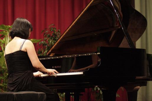 Concierto de la pianista de Hong Kong Mary Wu, ayer en Sant Carles