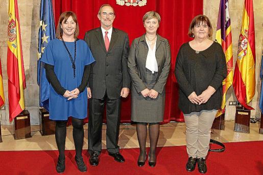 Imagen de archivo de Francina Armengol, Antonio Diéguez, Maria Ballester y Xelo Huertas.