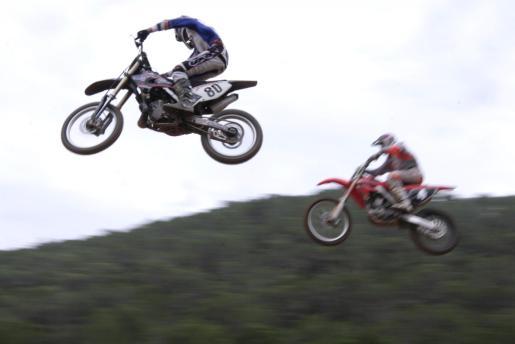Una prueba de motocross disputada en Eivissa.