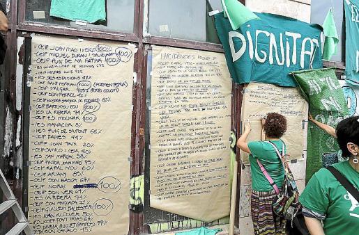 Protesta contra las pruebas de la LOMCE el pasado 20 de mayo.