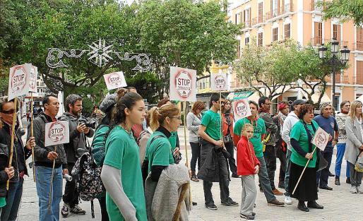 Imagen de una protesta protagonizada por la PAH.