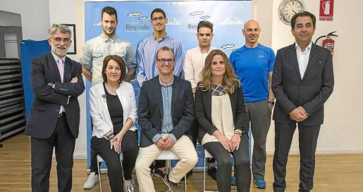 La XVII Vuelta a Formentera nadando por la Fibrosis Quística se presentó en la Boutique Gym de la menor de las Pitiüses.