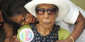 Susannah Mushatt Jones, en una imagen de archivo, cuando cumplió 113 años.
