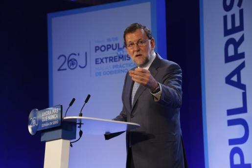 Mariano Rajoy, este jueves en Palma.