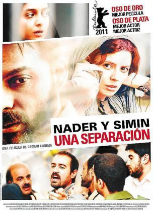 Cartel del film 'Nader y Simin, una separación'.