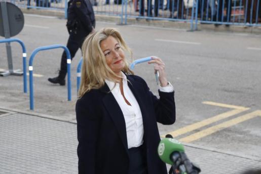 La abogada de Manos Limpias, Virginia López Negrete, durante una de las sesiones del juico por el caso Nóos.