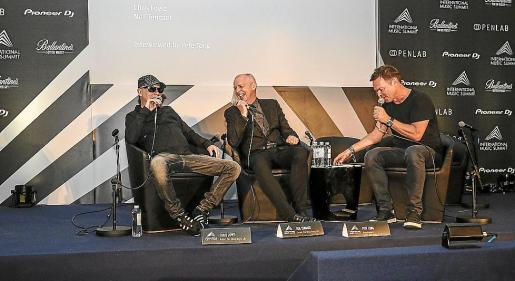 El dj, productor y cofundador del IMS, Pete Tong, fue el encargado de entrevistar a Chris Lowe y Neil Tennent (Pet Shop Boys).