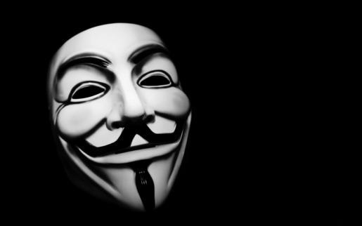 Anonymous emplea la máscara de Guy Fawkes, un conspirador inglés que intentó volar el la Cámara de los Lores británica en 1605, como señal de identidad.