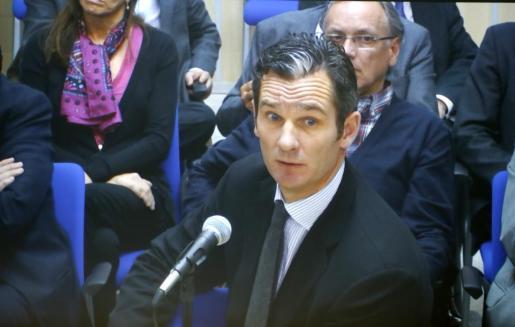 Iñaki Urdangarin, durante su declaración en el juicio del caso Nóos.