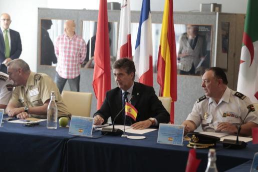 El director gerenal de la Policía Nacional, Ignacio Cosidó, durante la rueda de prensa que ha ofrecido este martes en el hotel Palas Atenea de Palma.