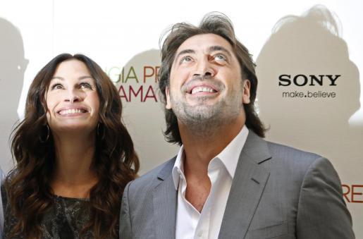Javier Bardem continúa con la promoción de la película 'Eat Pray Love', en la que comparte protagonismo con Julia Roberts.