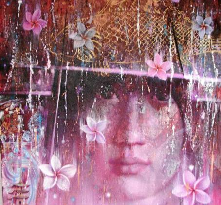 Una de las obras de Simona Marziani que se expone en San Francisco.