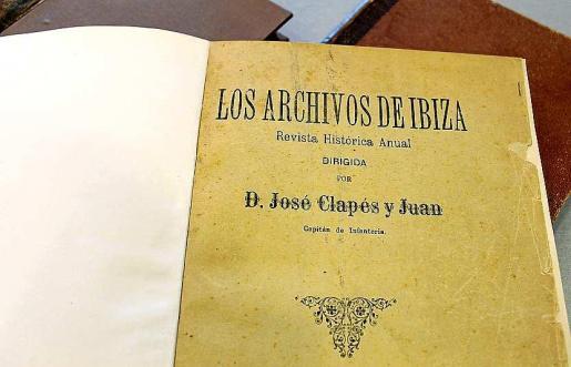 Este es uno de los ejemplares de la revista Los Archivos de Ibiza, de Josep Clapés, que se han digitalizado.