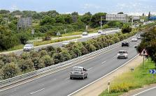 Colocan barreras en la mediana del tramo polémico de la autopista de Llucmajor