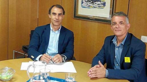 Vicent Torres 'Benet' se reunió ayer con César Antón, director general del Imserso.