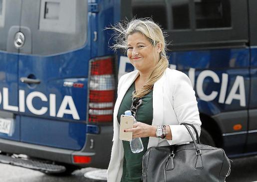 Virginia López, en una de las sesiones del juicio de Nóos.