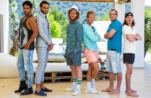 Imagen de los participantes en la cuarta entrega de Les Princes de l'Amour, reality que se rueda en Eivissa.