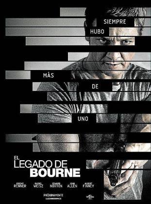 Cartel del film 'El legado de Bourne'.