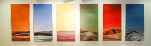 La muestra que se puede ver hasta el próximo 21 de agosto en la Sala de Exposiciones Can Jeroni está compuesta por unas veinte obras como estas. Foto: TONI ESCOBAR