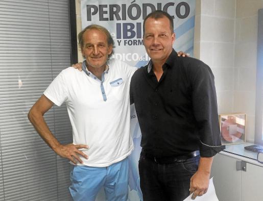 Heinz Hermann, a la izquierda, y Markus Munk, ayer en las oficinas de Periódico de Ibiza.
