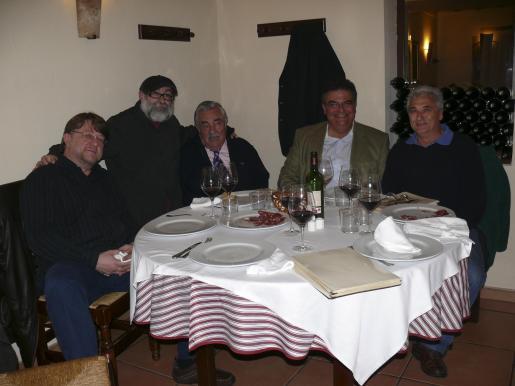 Ireneus Jaglia, Diego Villamediana, Pere A.Serra, Tomeu Barceló y Antoni Juan Garau.