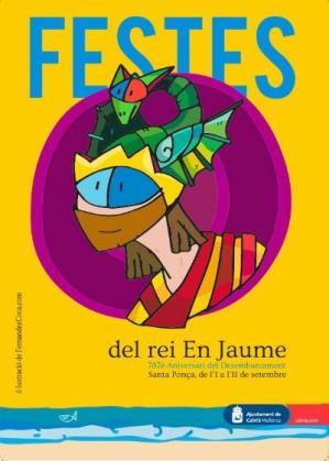 Cartel de las fiestas del Rei en Jaume.