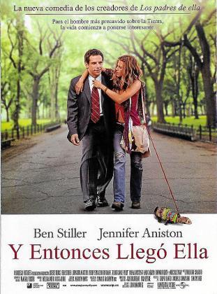 Cartel de la película 'Y entonces llegó ella'.