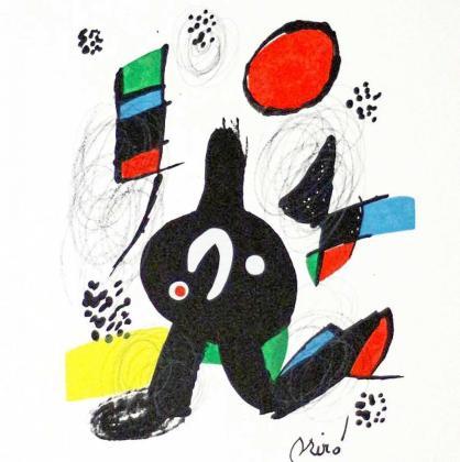 La litografía 'Sirenas' de Joan Miró.