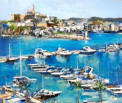 Una de las obras que podrán apreciarse en la Exposición de Arte del Hotel Talamanca.