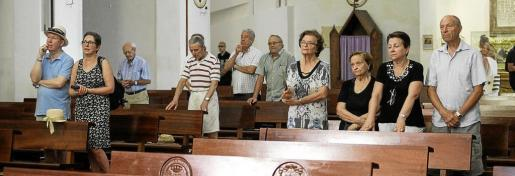Una docena de familiares asistieron ayer a la misa celebrada en la Catedral de Ibiza en honor a las víctimas de la Guerra Civil.