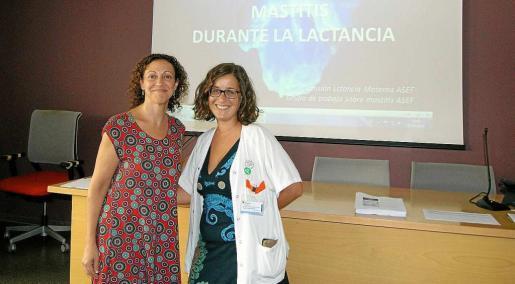La doctora Carolina Marí y la matrona Clara Nieto.