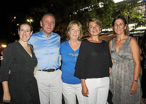 Susana Bonet, Richard Master, Patricia Bullock, Margalida Duran y María José Bauzá.