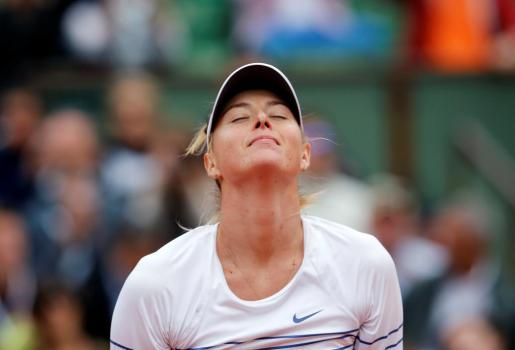 La tenista rusa Maria Sharapova durante un partido.