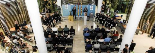 Imagen del acto celebrado por la Policía Nacional con motivo de su pátrón.