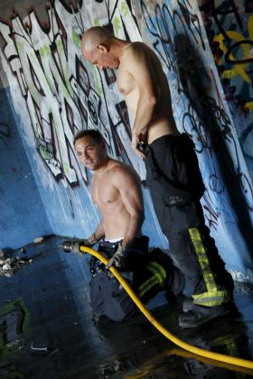 David Guerrero y Xavi Creus hicieron de modelos por un día para el nuevo calendario.
