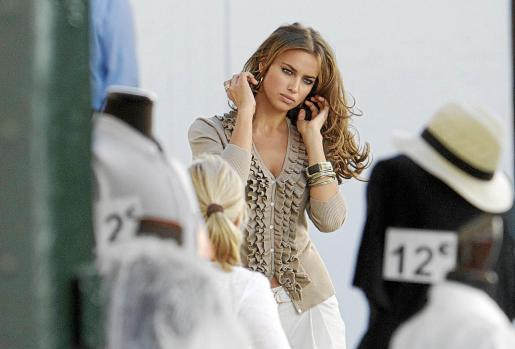Irina Shayk, durante una sesión de fotos.